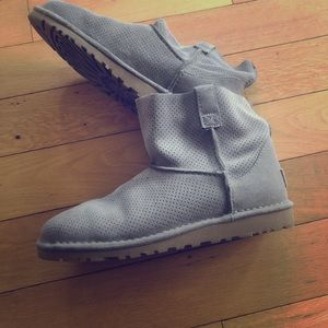 UGG perforated mini boot
